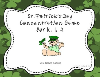 St. Patrick's Day Concentration Game