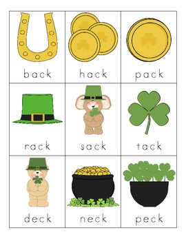 St. Patrick's Day Consonant Digraph Cards