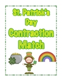 St. Patrick's Day Contractions Match Literacy Activity