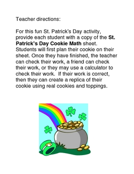 St. Patrick's Day Cookie Math