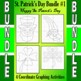 St. Patrick's Day - 4 Coordinate Graphing Activities - Bun