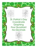St. Patrick's Day Coordinate Graphing - Four Quad. and no