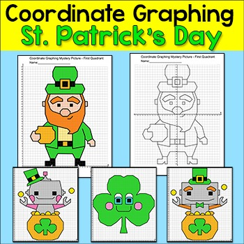 St. Patrick's Day Math Coordinate Graphing Ordered Pairs