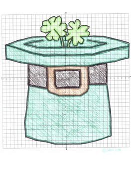 St. Patrick's Day Math Coordinate Graphing Picture