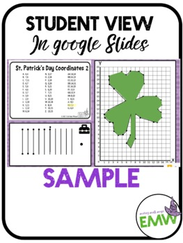 St Patrick's Day Math Activity Coordinate Drawing Task Cards
