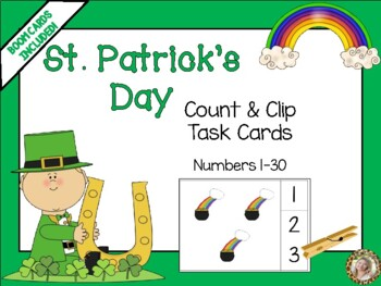 St. Patrick's Day Lucky Count & Clip 1-30