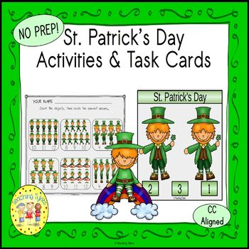 St. Patrick's Day Count and Clip Holiday Task Cards