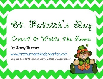 St. Patrick's Day Count and Write the Room