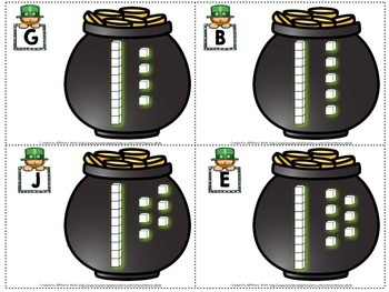 St. Patrick's Day Count the Room by Base 10 Numerals 10-20