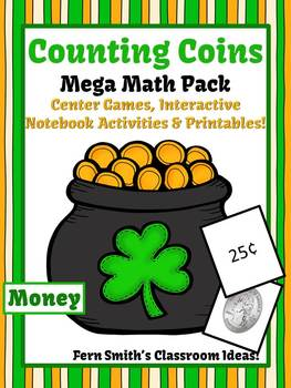 St Patrick's Day Money Counting Coins Center Games Anchor
