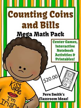 St Patrick's Day Money Coins and Bills Center Games Anchor Charts Printables