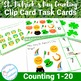 St Patricks Day Math Counting Task Cards Center