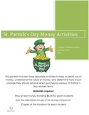 St. Patrick's Day Counting Money Activities