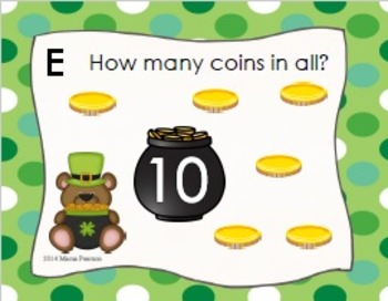 St. Patrick's Day Counting On Task Cards