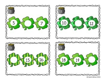 St. Patrick's Day Counting Task Cards