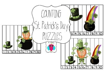 St. Patrick's Day Counting Puzzles