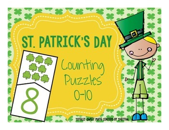 St. Patrick's Day Counting Self-Checking Puzzles