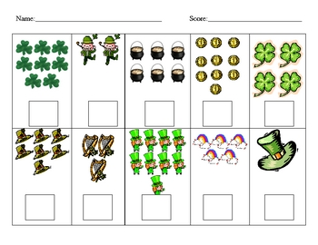 St. Patrick's Day Counting Sets Test