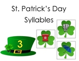 St. Patrick's Day Counting Syllables on Shamrocks Common Core