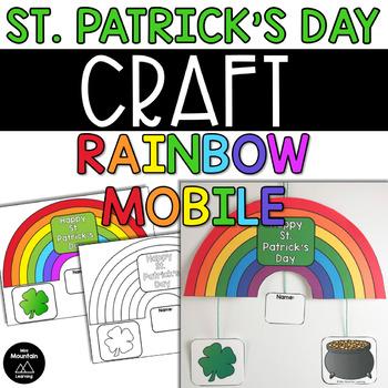 St. Patricks Day Craft- Rainbow Mobile