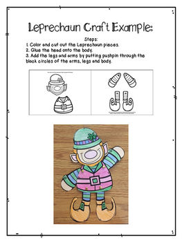 St. Patricks Day Craft and Writing Packet