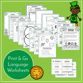 St. Patrick's Day Speech and Language Activities