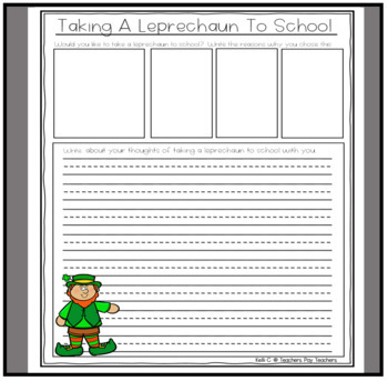 St Patricks Day Creative Writing- 5 Packets All Together