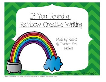 St Patricks Day Creative Writing- Found a Rainbow and Pot