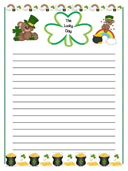 St. Patrick's Day Creative Writing-Little Bear's Lucky Day: Prompt and materials