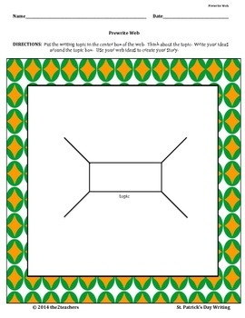 St. Patrick's Day Creative Writing:  Prewrites, Prompts and Skill Focus Cards