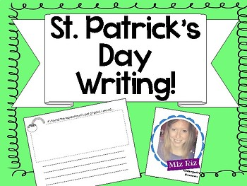 St. Patricks Day Creative Writing Page