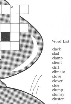 Crossword Puzzle St. Patrick's Day Shape of 4 Leaf Clover: Cl Consonant Clusters