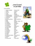 St. Patrick's Day Crossword and Vocab List (Spanish)