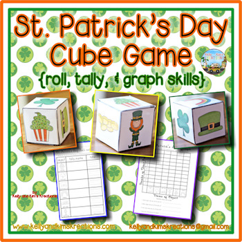 St. Patrick's Day Cube Game {roll, tally, & graph skills}