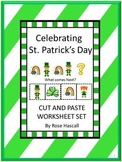 St. Patrick's Day Math & Literacy Centers Cut & Paste, Kindergarten Special Ed.