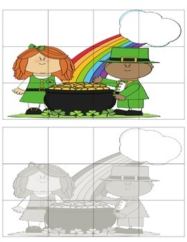 St. Patrick's Day Cut & Paste Puzzles