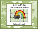 St. Patrick's Day Cut and Paste Puzzles