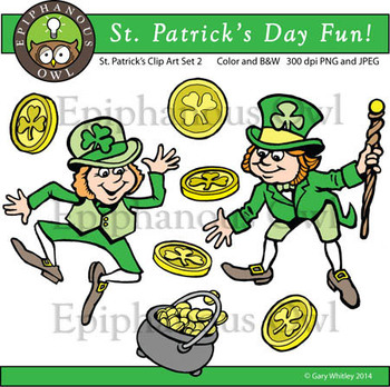 St. Patrick's Day Cute Clip Art Set 2