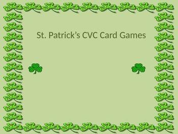 St. Patrick's Day CvC center activities