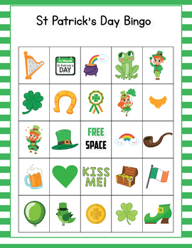 image relating to St Patrick's Day Bingo Printable referred to as St Patricks Working day Bingo Activity - St Patricks Working day Functions for Kindergarten