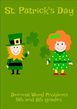 St. Patrick's Day Decimal Word Problems