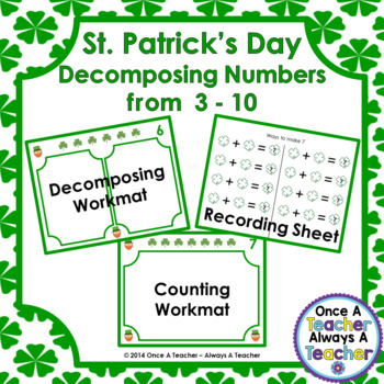 Decomposing Numbers from 3 – 10 • St. Patrick's Day