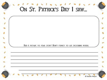St Patrick's Day- Describing Activity