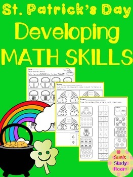 St. Patrick's Day Developing Math Skills for Preschool, Pr
