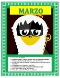 Spanish St Patrick's Day- Las Fechas de Marzo-Interactive San Patricio Activity