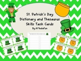 St. Patrick's Day Dictionary and Thesaurus Skills Task Car