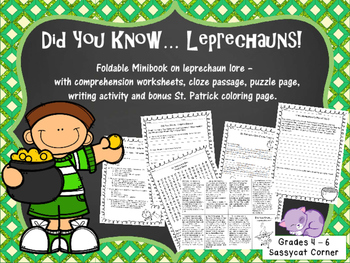 St. Patrick's Day - Did You Know...Leprechauns Reading Activities