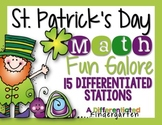 St. Patrick's Day Differentiated Math Stations Galore-15 Stations 199 Pages