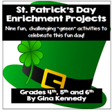 St. Patrick's Day Enrichment Writing Projects for Upper El