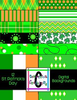 St. Patrick's Day 8.5 x 11 Digital Backgrounds